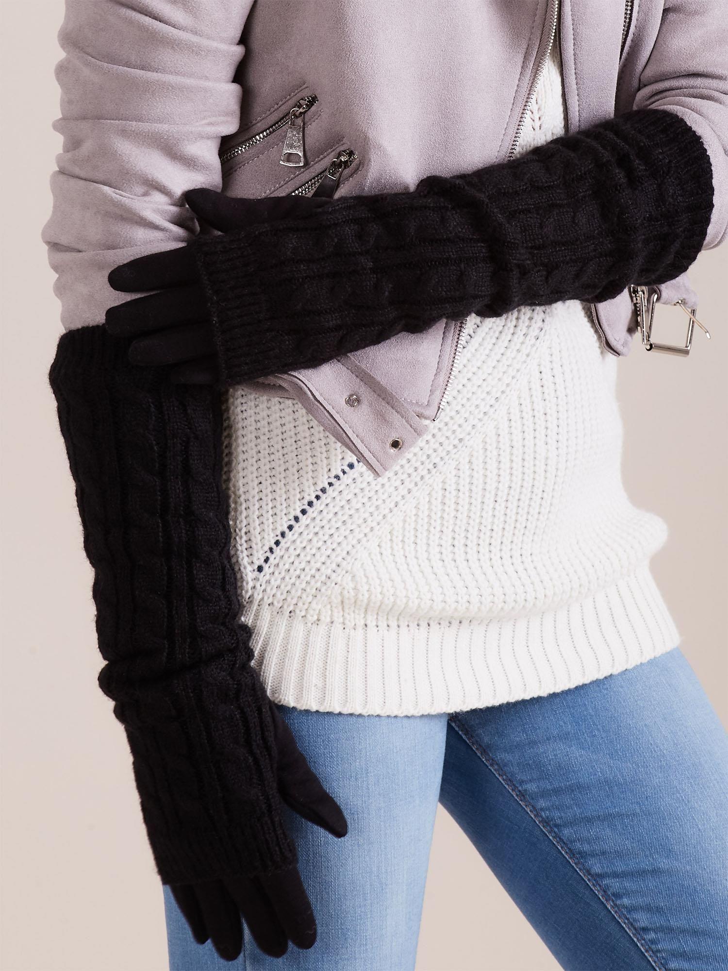 Černé dlouhé rukavice