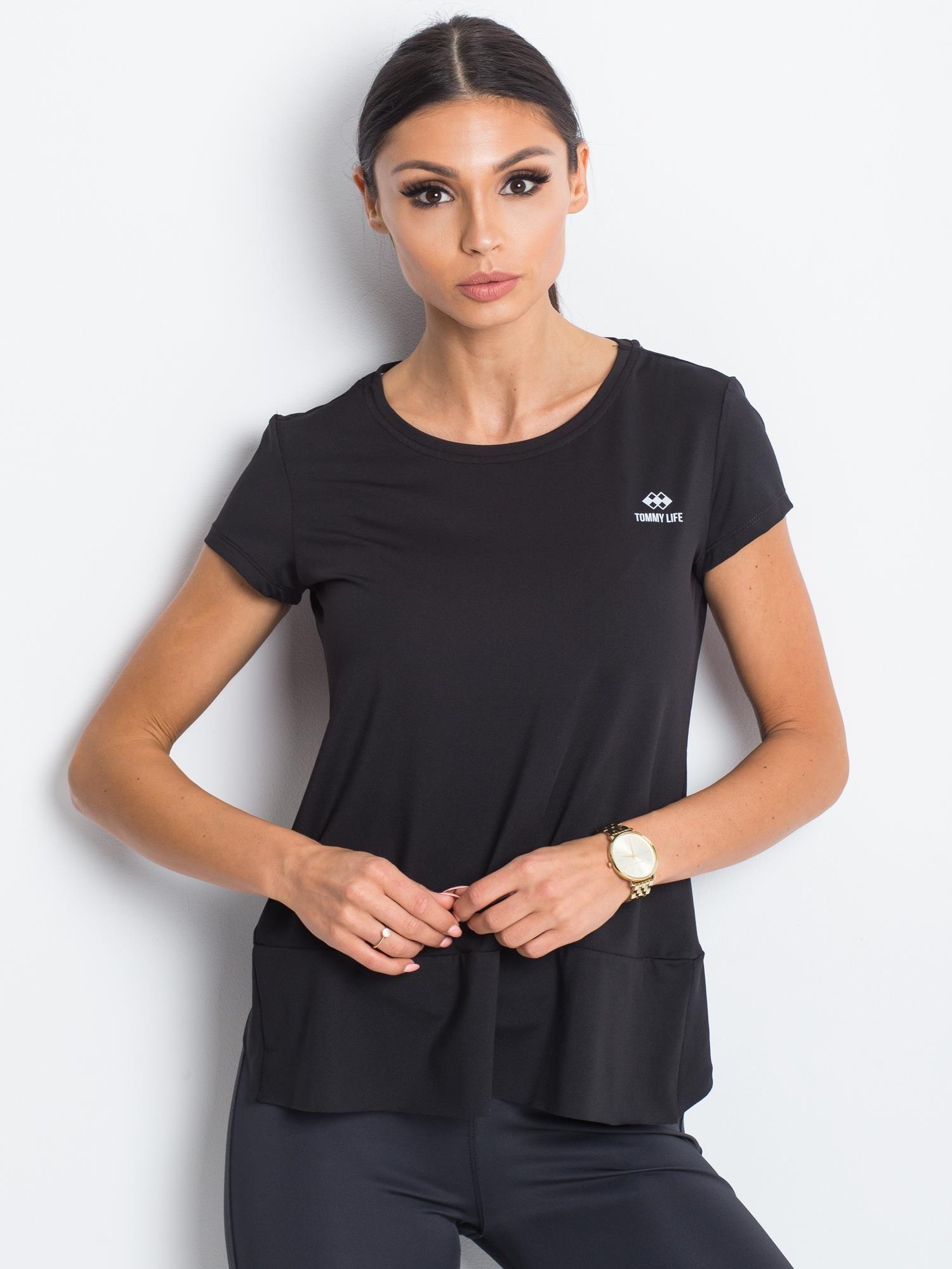 Černé sportovní tričko od TOMMY LIFE