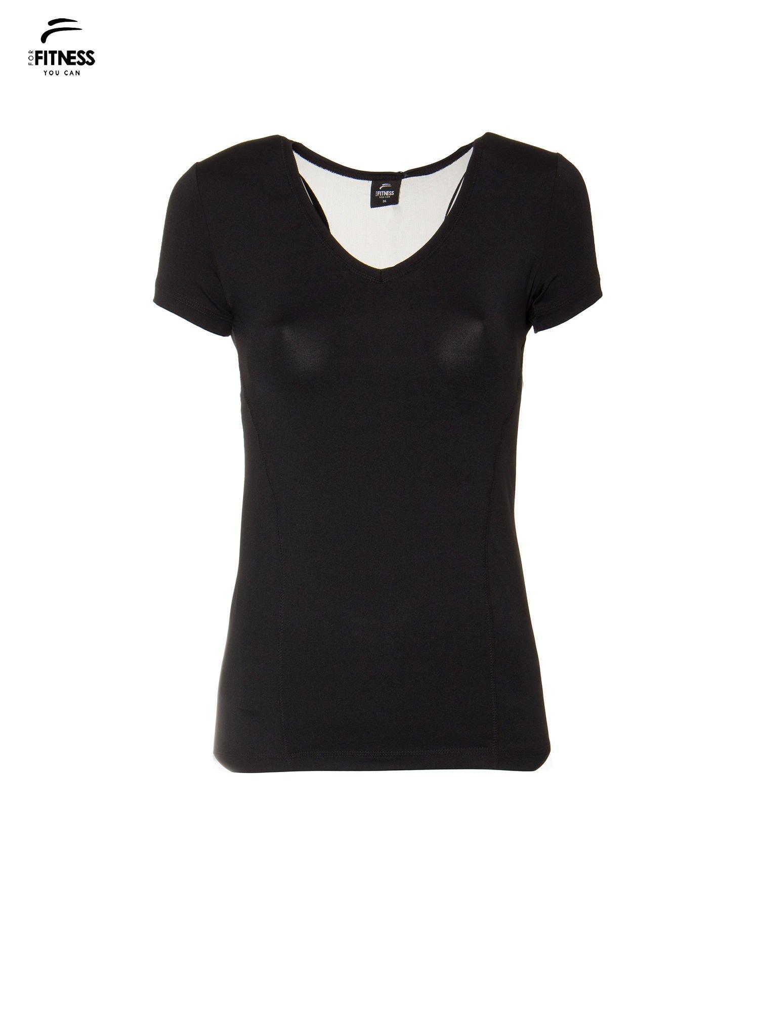 Dámské černé sportovní tričko PLUS VELIKOST