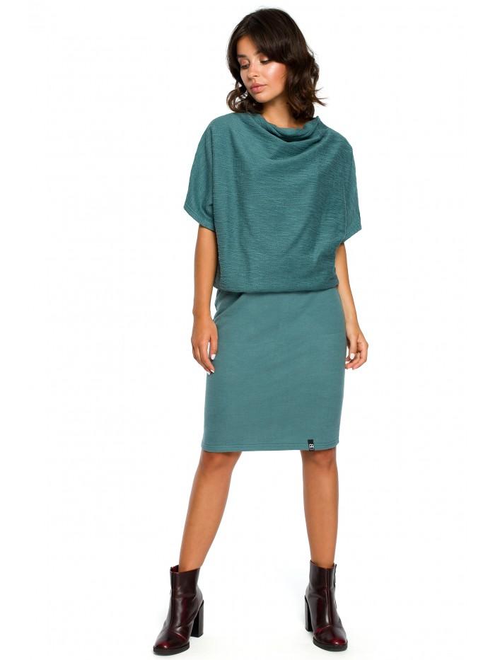B097 Blouson top a pružné tužkové sukně