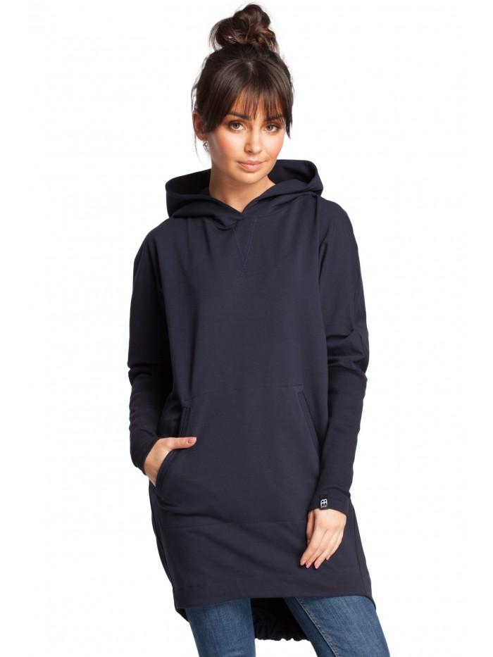 B021 Mikinová tunika s kapucí