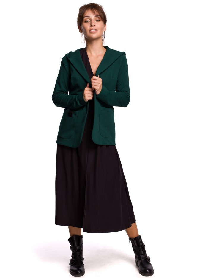 Dámské úpletové sako s kapucí B180