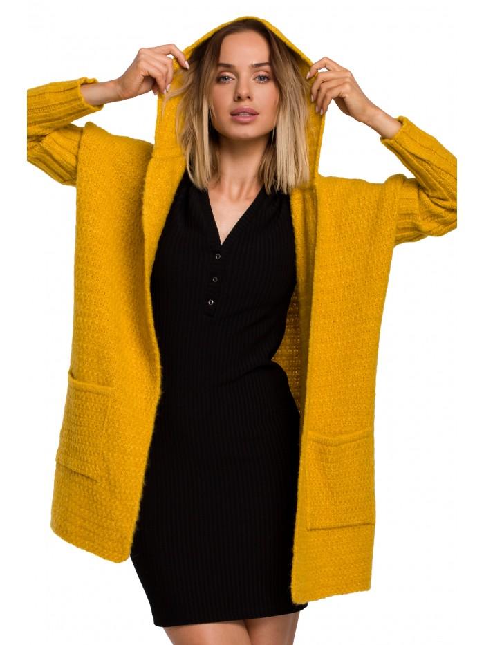 M556 Chunky pletený svetr s kapucí