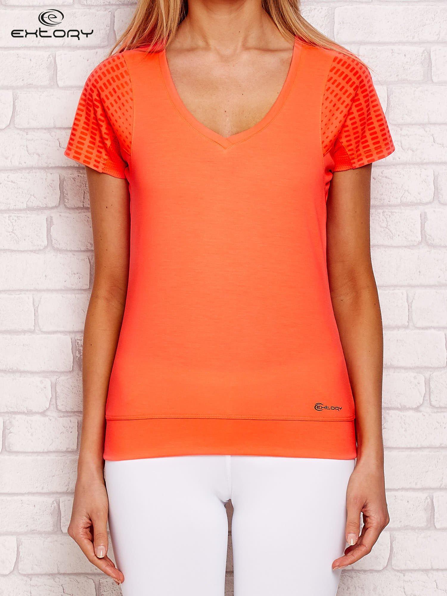 Fluo oranžové sportovní tričko pro ženy