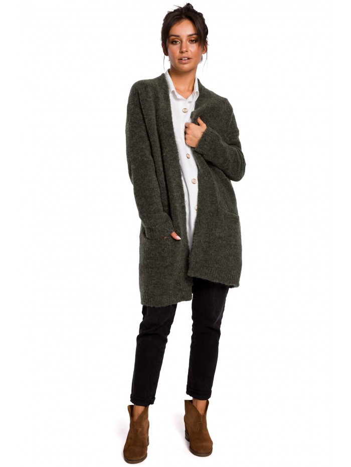 Dámský cardigan BK034 pletený svetr - BEwear