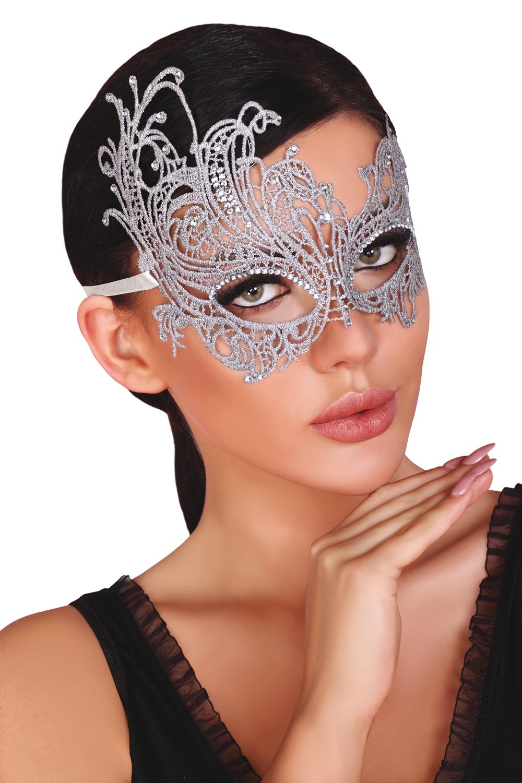 Maska na oči Mask silver - LivCo CORSETTI FASHION