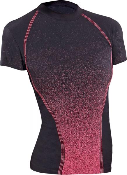 Viva Sport Dámské sportovní triko krátký rukáv Vivasport růžové Barva: Černá, Velikost: