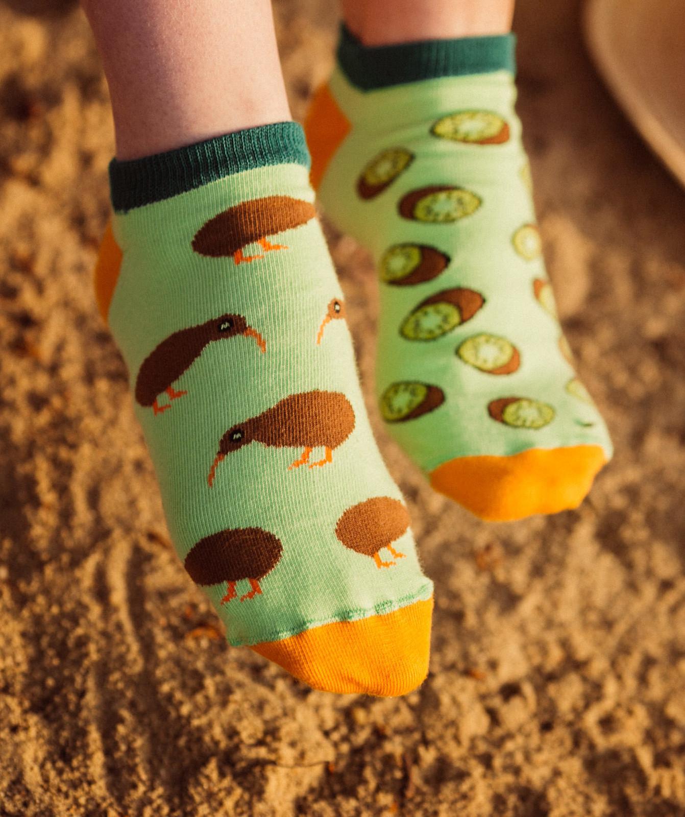 Dámské kotníkové ponožky Spox Sox Kiwi