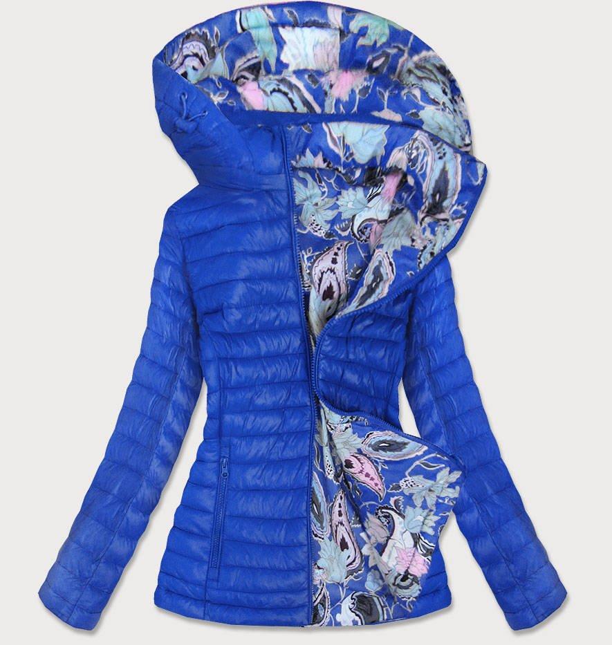 Světle modrá oboustranná dámská bunda (7174)