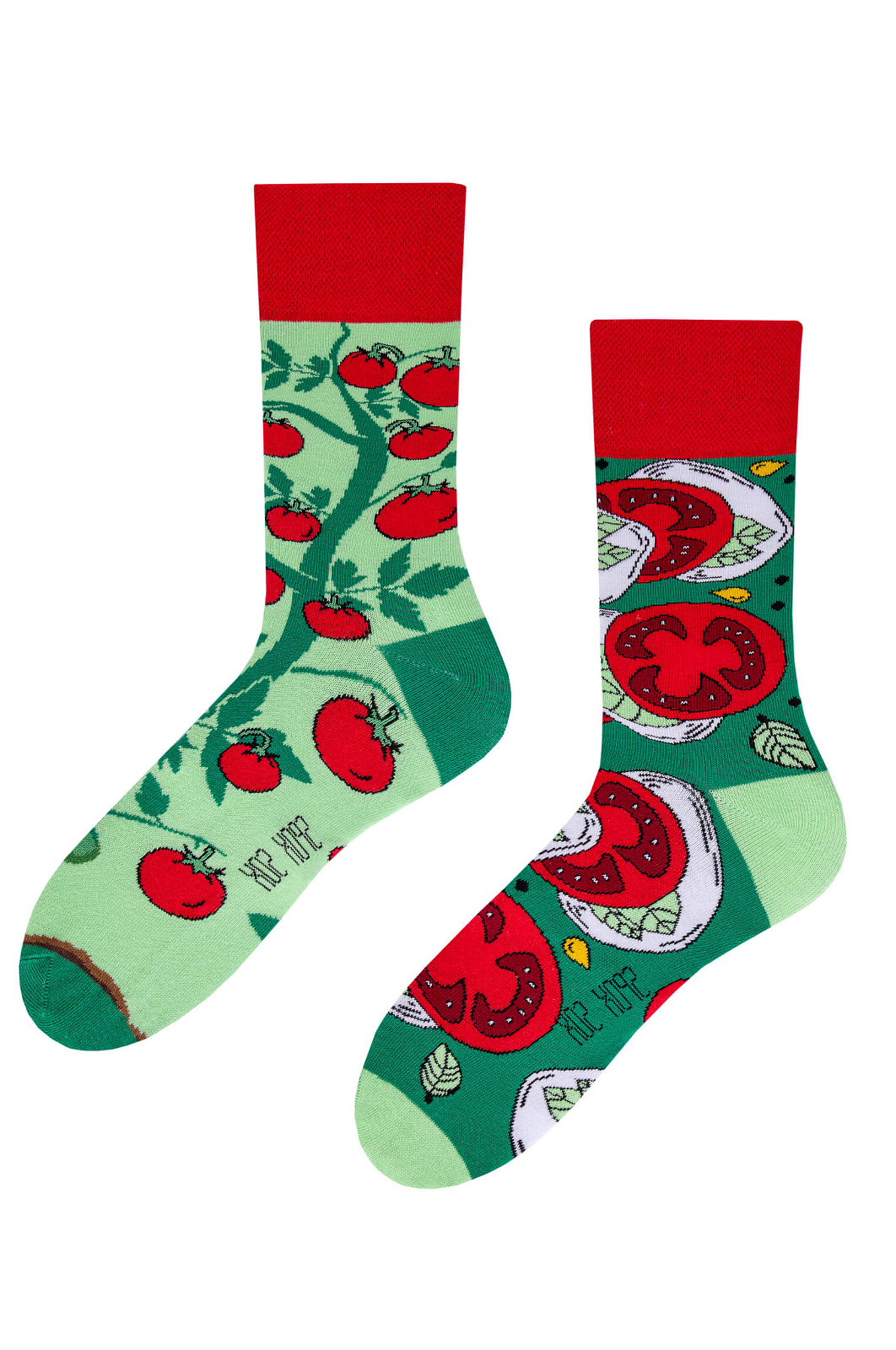 Unisex nepárové ponožky Spox Sox Rajčata