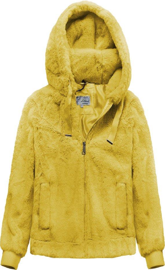Žlutá plyšová bunda s kapucí (2019)
