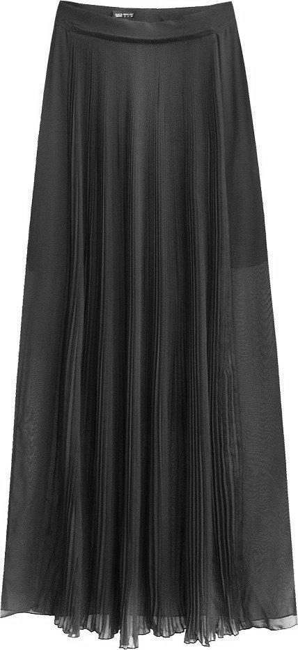 Dámská sukně v grafitové barvě s délkou maxi (291ART)