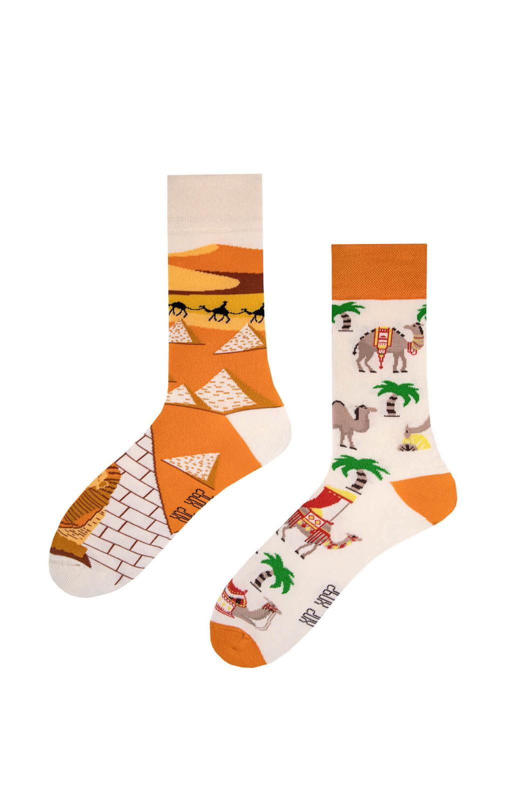 Nepárové ponožky Spox Sox Velbloudi z Egyptu 36-46