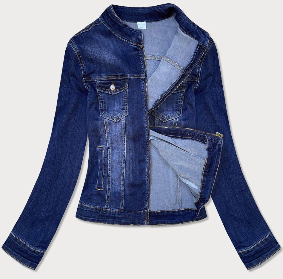 Volná tmavě modrá džínová bunda (GD6351)