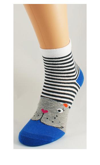 Dámské ponožky Bratex Ona Classic 0136 Zvířátka