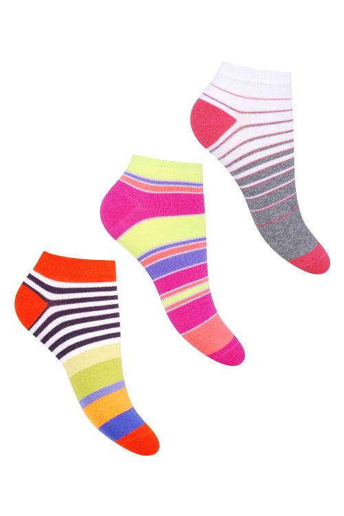 Dámské pruhované ponožky Steven art.052