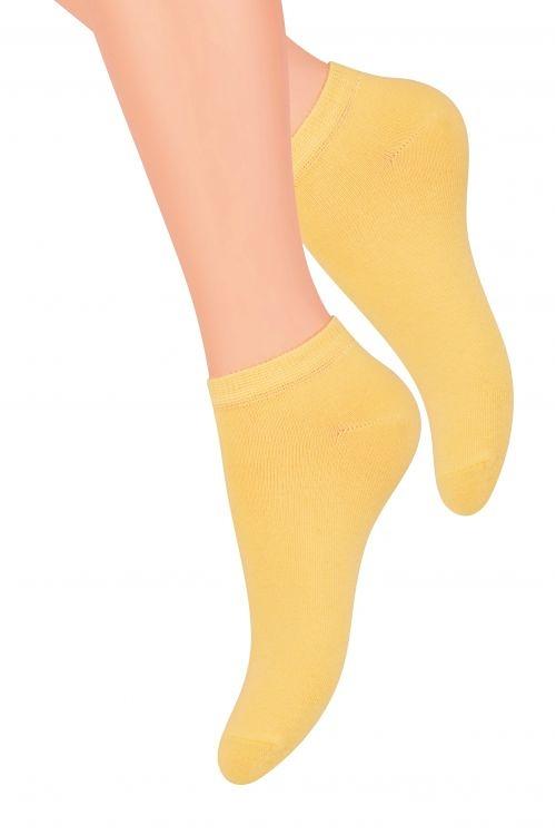 Hladké dámské ponožky Steven art.052