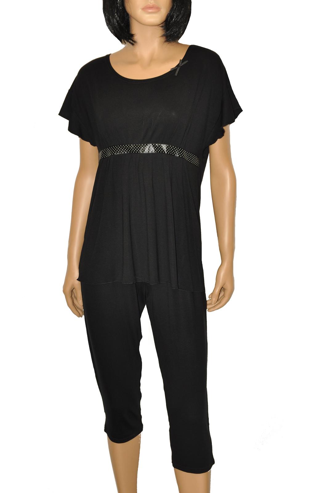 Dámské pyžamo De Lafense 448 Julie kr/r S-2XL