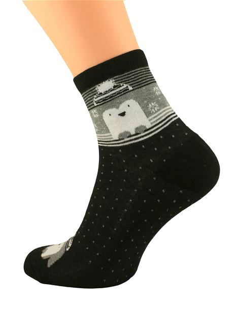 Dámské zimní ponožky Bratex Women Vzory, polofroté 051