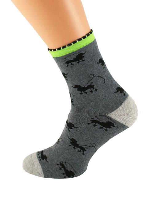 Dámské vzorované ponožky Bratex Women Froté 037