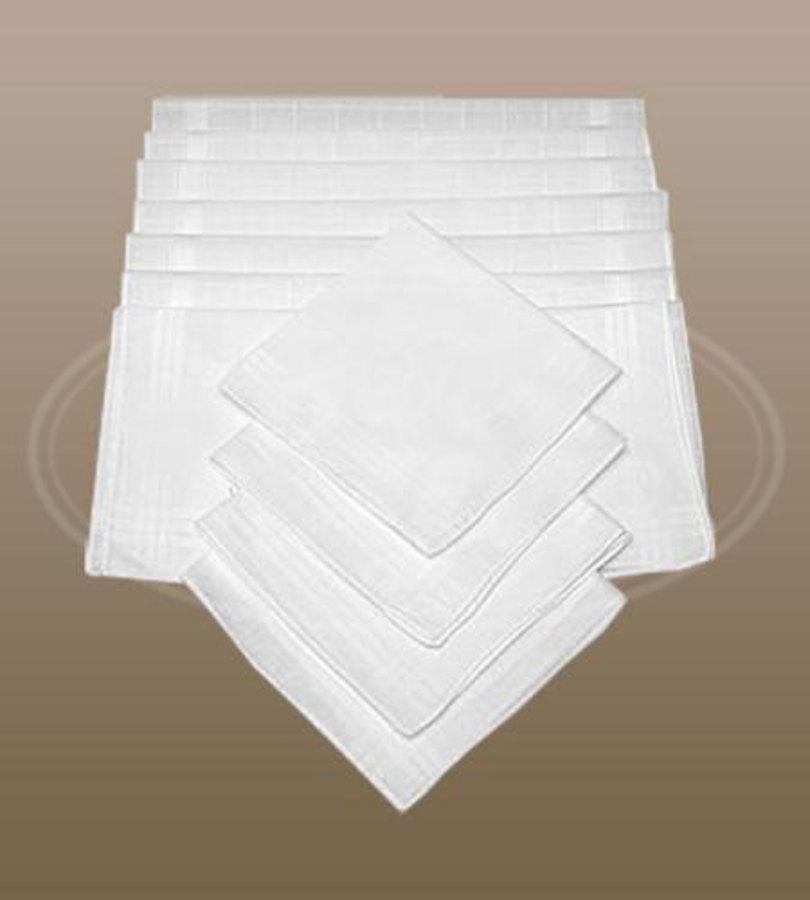 Dámské bílé kapesníky CH-895 10 ks - EGA