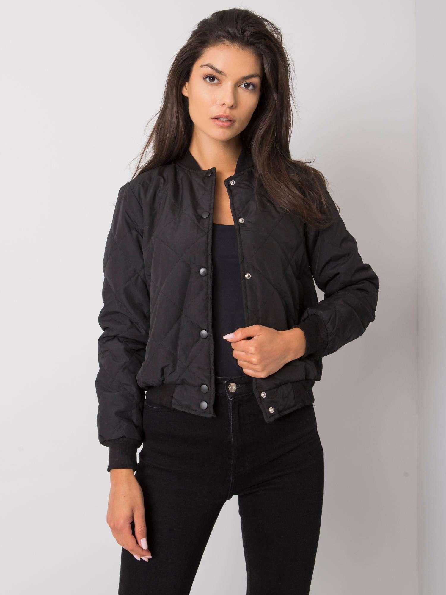 Černá dámská bunda bomber