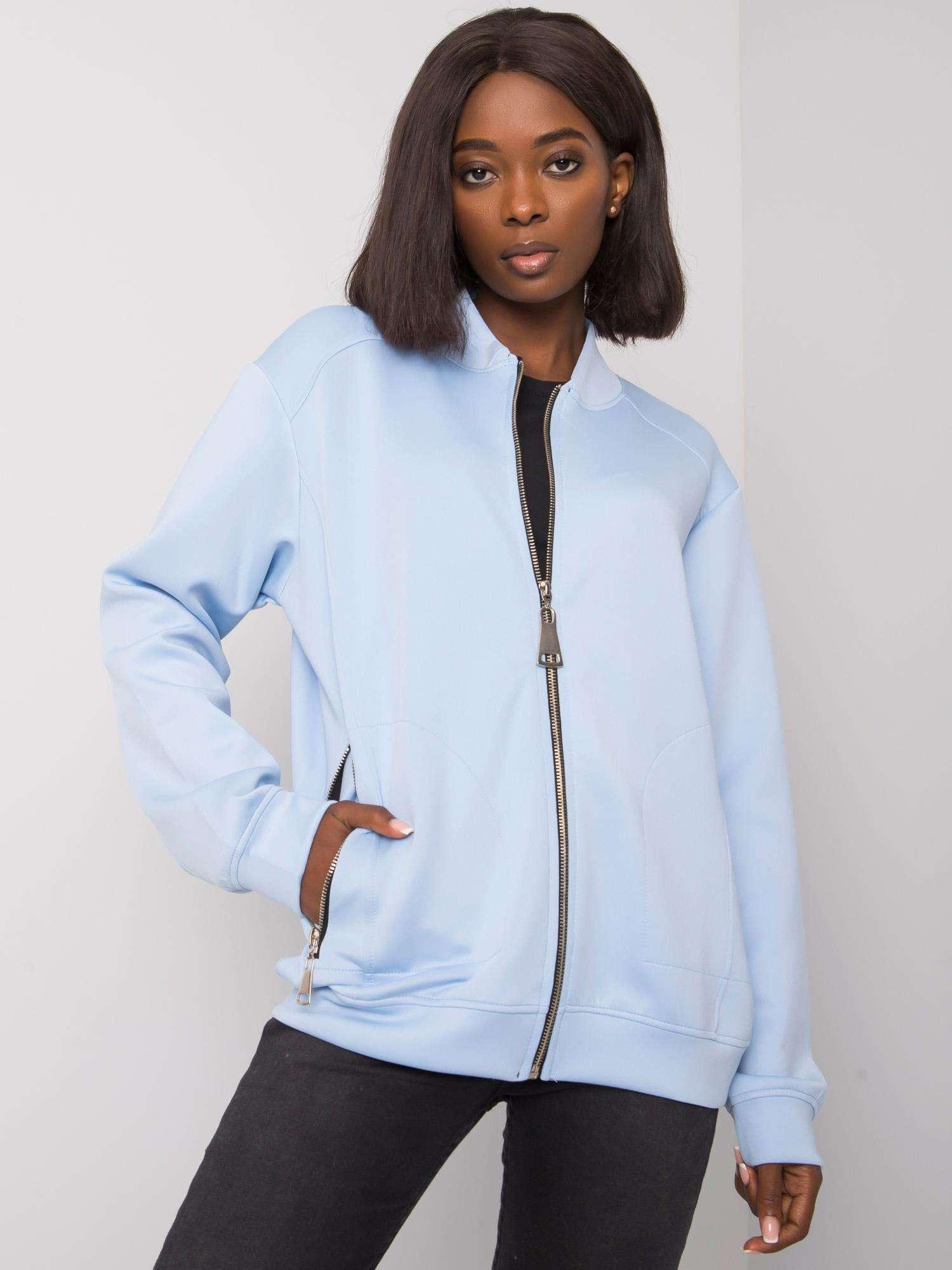 Modrá dámská bunda bomber