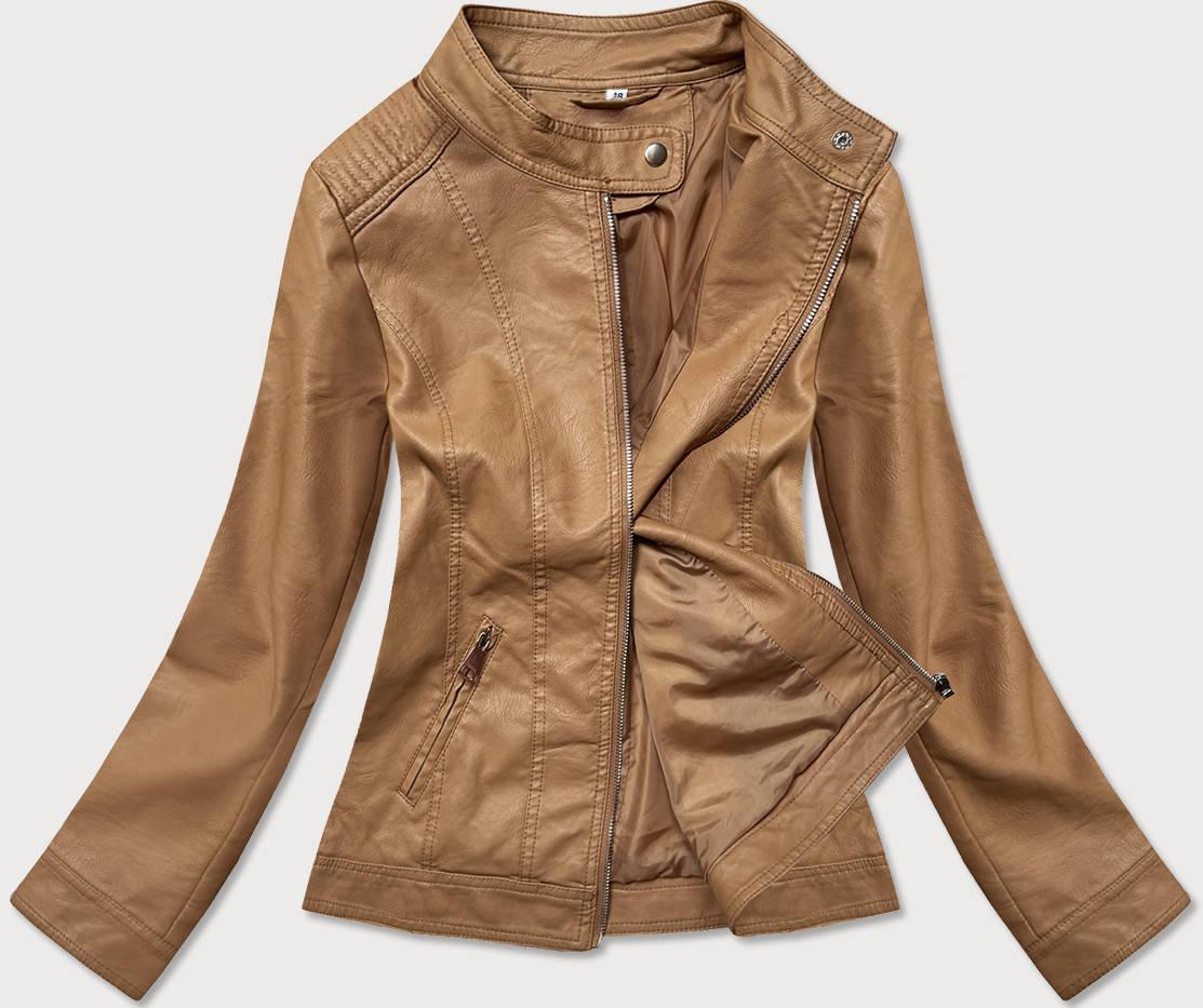 Světle hnědá dámská koženková bunda (GV90-20)