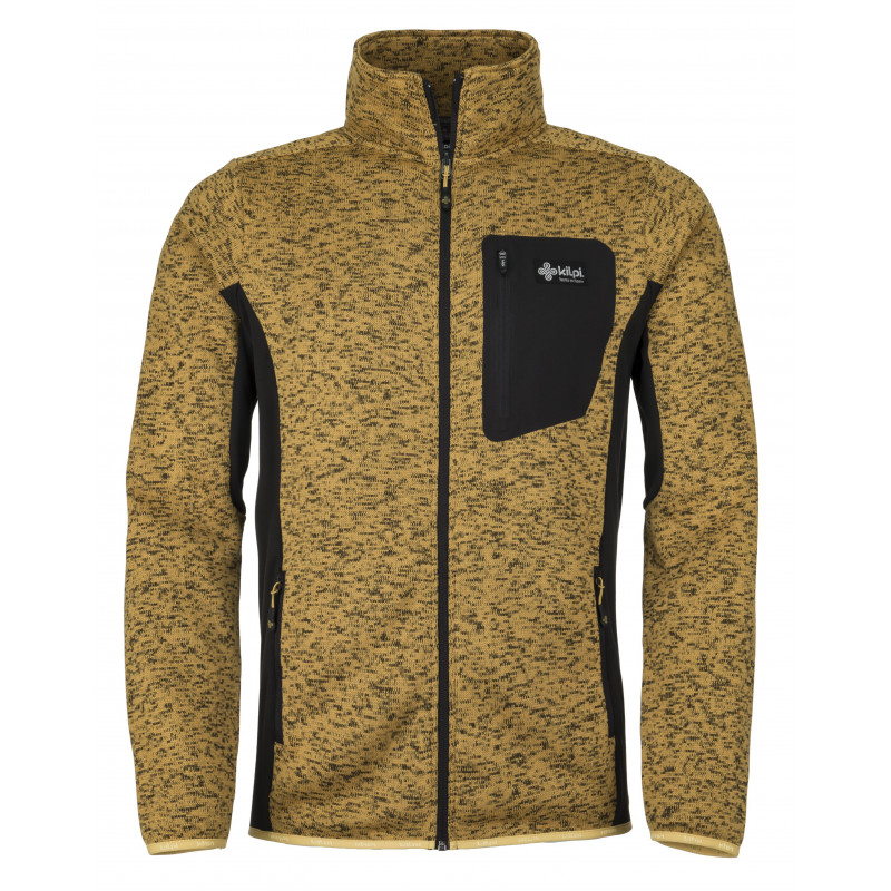 Pánský fleece svetr Rigan-m žlutá - Kilpi