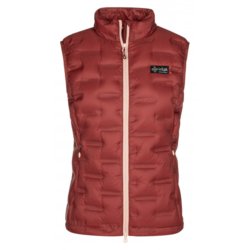 Dámská péřová vesta Kenai-w tmavě červená