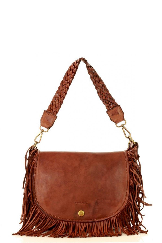 Přírodní kožená taška model 149477 Mazzini