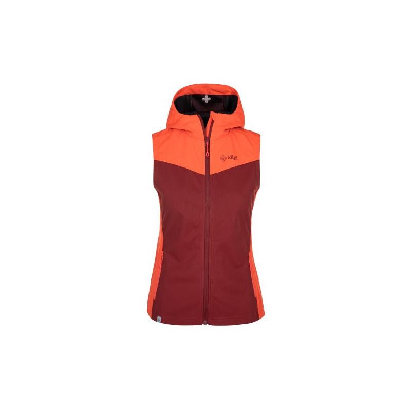 Dámská softshellová vesta Cortina-w tmavě červená - Kilpi