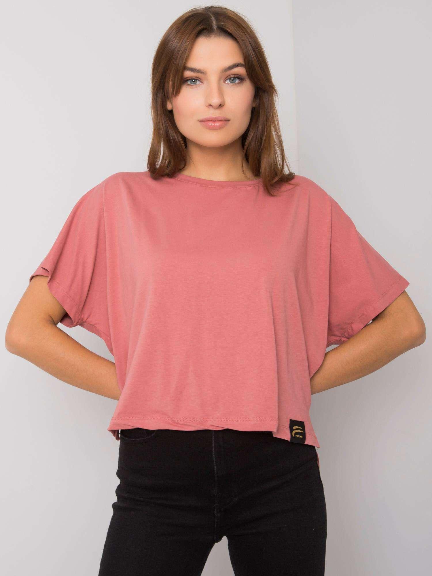 FOR FITNESS Špinavě růžové bavlněné tričko
