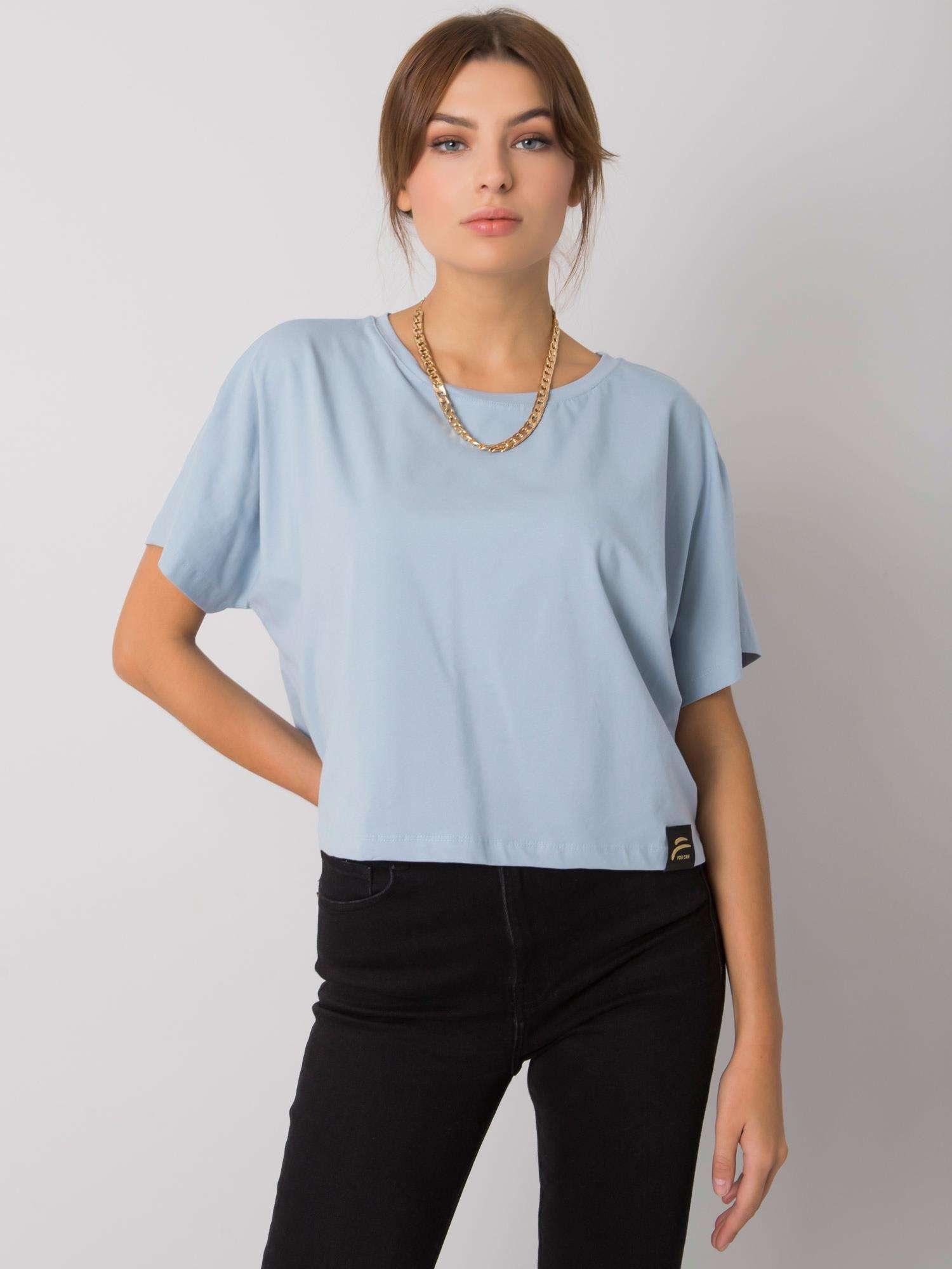 FOR FITNESS Světle modré bavlněné tričko