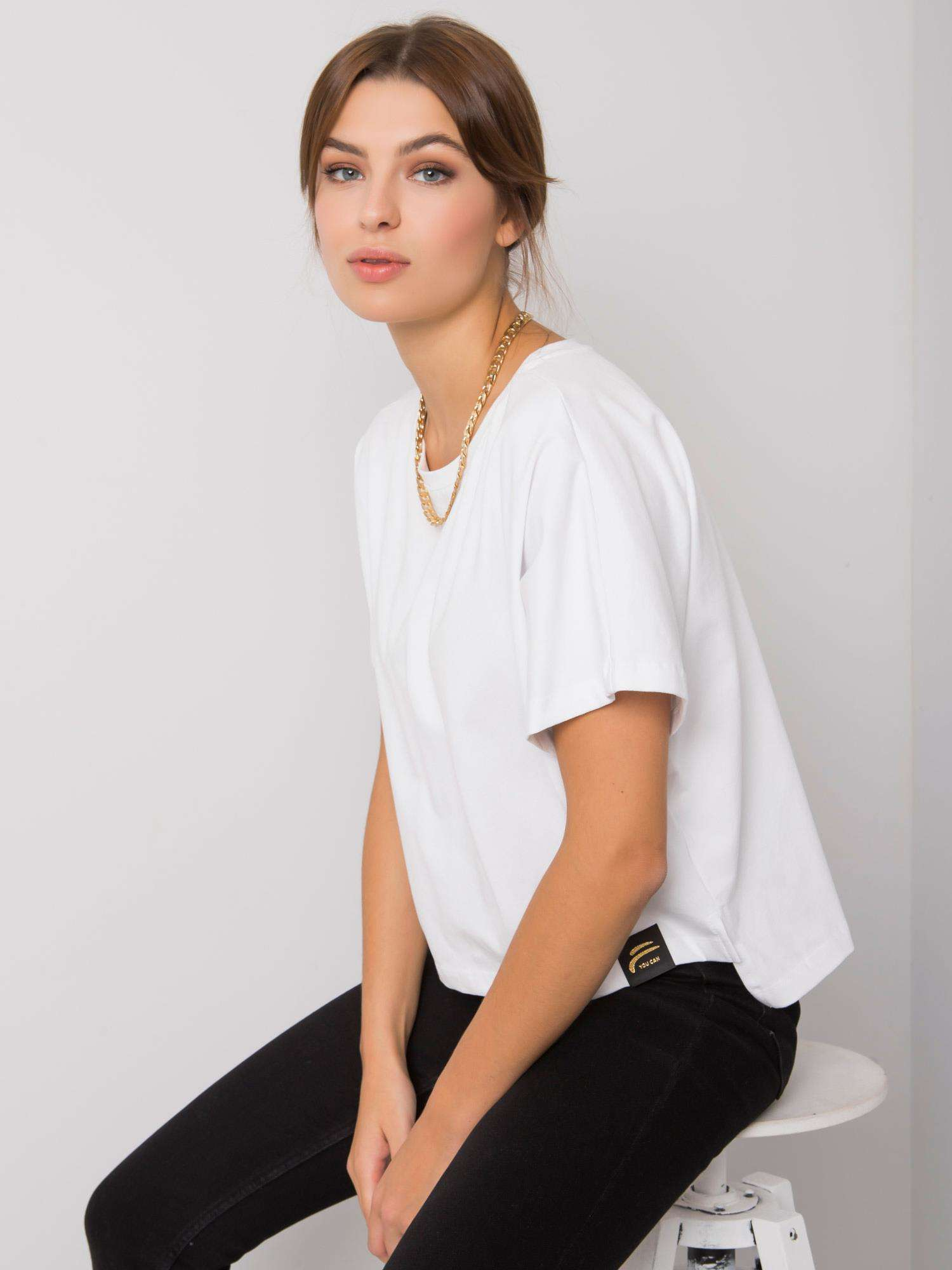 FOR FITNESS Bílé bavlněné tričko
