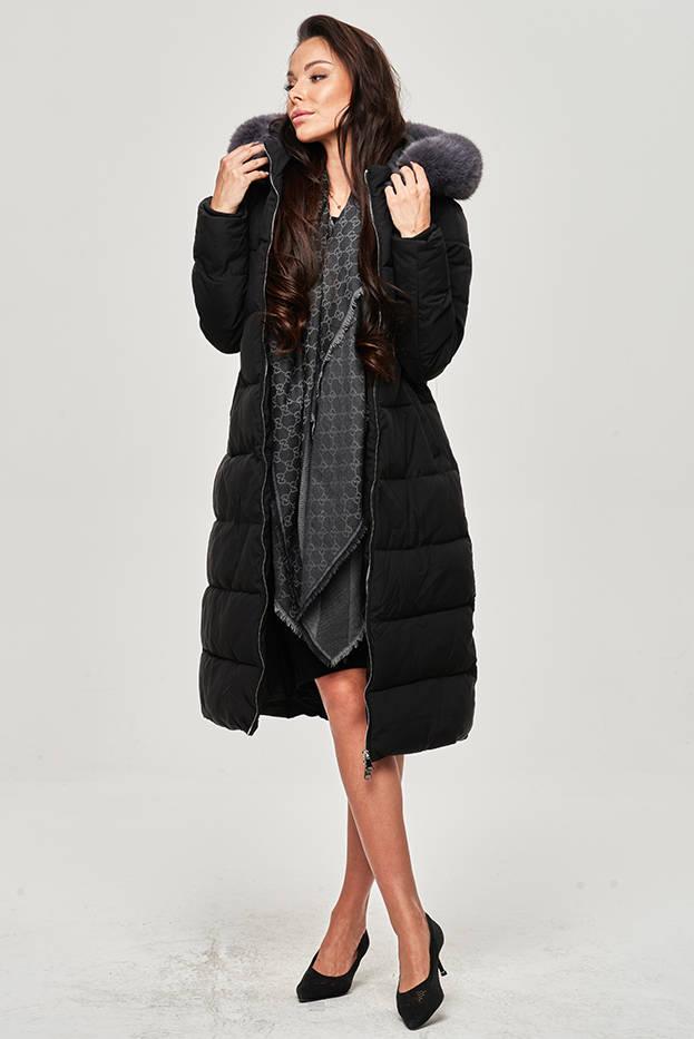 Černá dámská zimní péřová bunda (OMDL-010)
