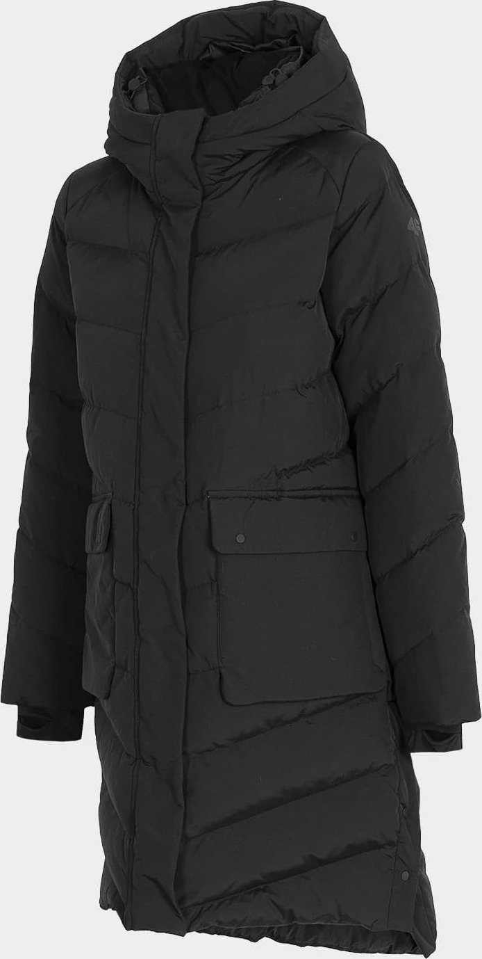 Dámský péřový kabát 4F KUDP203 Černý