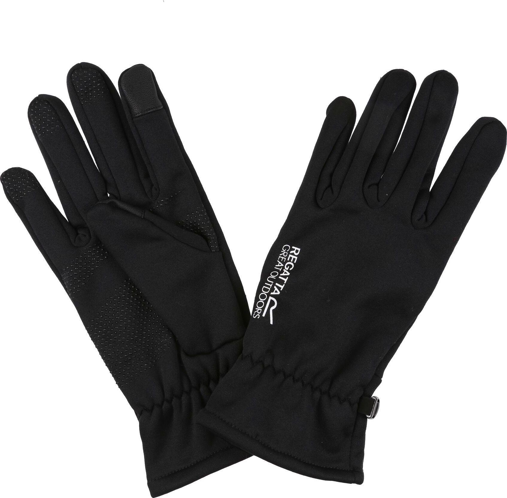 Pánské  softshellové rukavice  Regatta RMG026 Touchtip 800 Černé