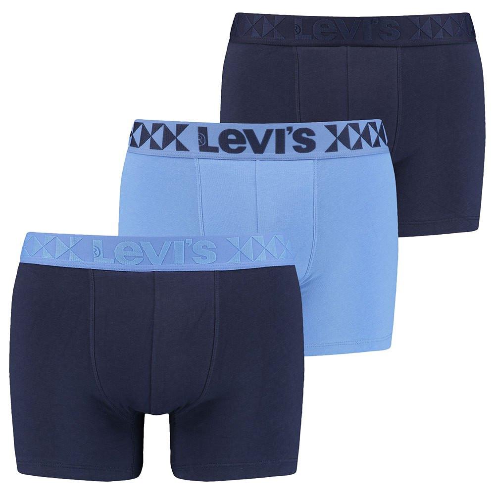 3PACK pánské boxerky Levis modré (701203918 001)