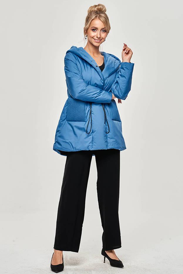 Světle modrá dámská bunda s kapucí (HO-22)