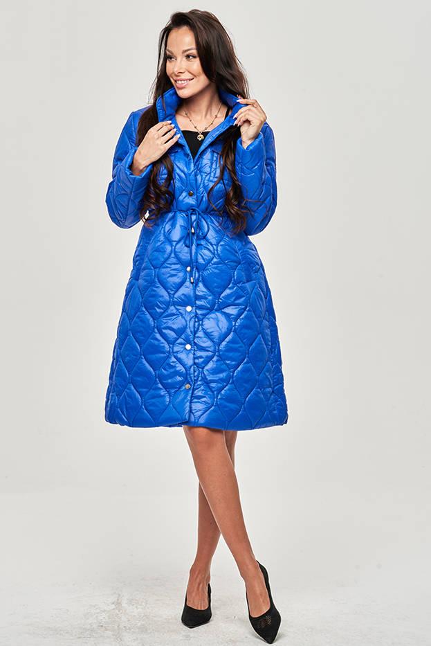 Dámská prošívaná bunda v chrpové barvě se stojáčkem (20201130)
