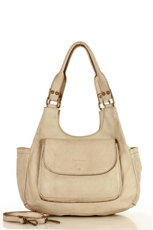 Přírodní kožená taška model 153447 Mazzini