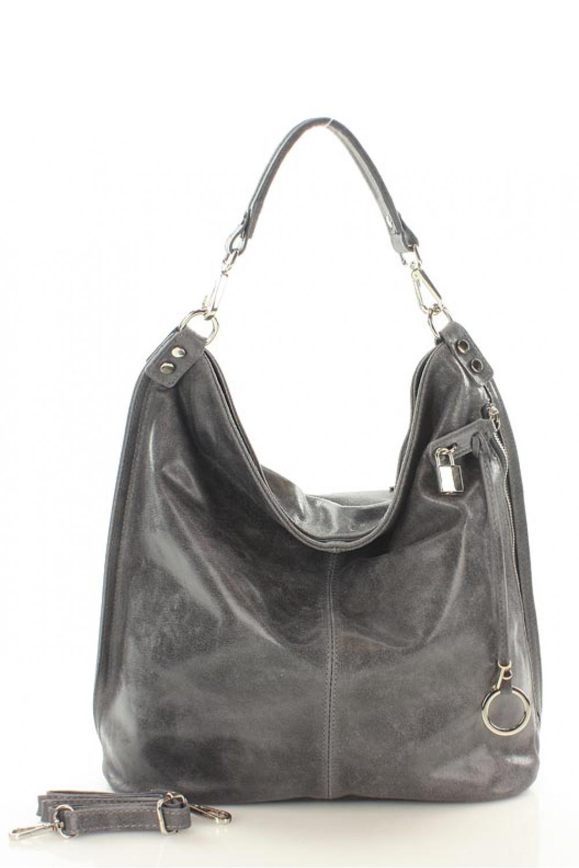 Přírodní kožená taška model 107800 Mazzini