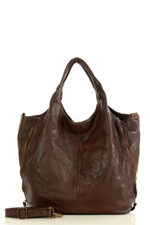 Přírodní kožená taška model 147123 Mazzini