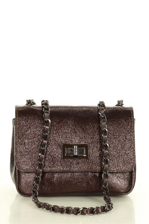 Přírodní kožená taška model 157881 Mazzini