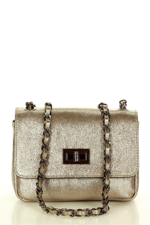 Přírodní kožená taška model 157882 Mazzini