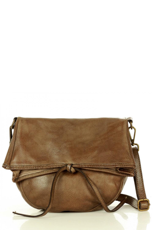 Přírodní kožená taška model 157869 Mazzini