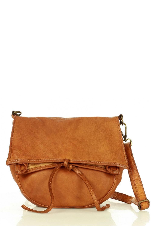 Přírodní kožená taška model 157870 Mazzini