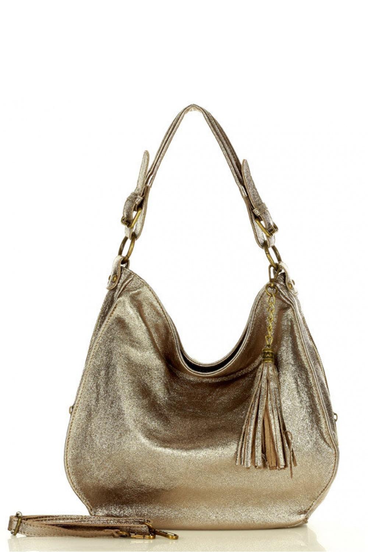 Přírodní kožená taška model 157871 Mazzini