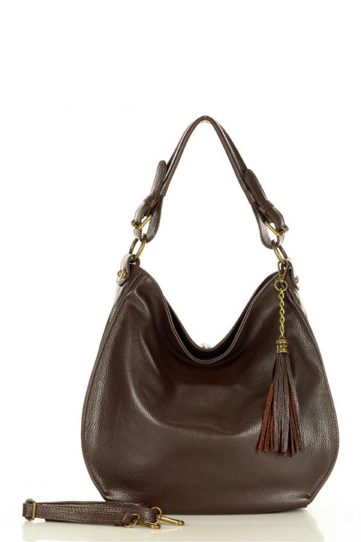 Přírodní kožená taška model 157873 Mazzini